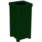 22 Gallon Green Granite Square Trash Receptacle, 11.5