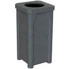 "22 Gallon Dark Granite Square Trash Receptacle, 11.5"" Opening"