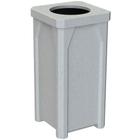 22 Gallon Light Granite Square Trash Receptacle, 11.5