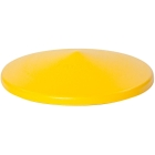 """Yellow HDPE Drum Funnel Cover for 30 & 55 Gallon Drums, 18.5"""" x 5"""", Eagle® 1664"""