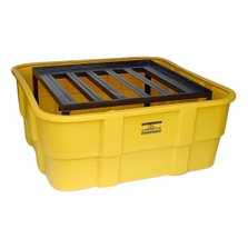 IBC Yellow Spill Containment Unit w/Steel Platform, No Drain