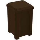 32 Gallon Brown Granite Square Trash Receptacle, Flat Lid Dust Cover
