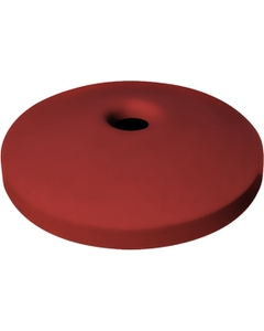 """55 Gallon Drum Red Plastic Mushroom Top Recycling Lid, 4"""" Opening"""