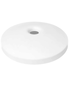"""55 Gallon Drum White Plastic Mushroom Top Recycling Lid, 4"""" Opening"""
