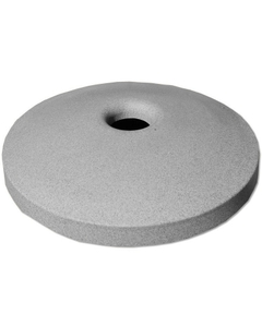 "55 Gallon Drum Light Granite Plastic Mushroom Top Recycling Lid, 4"" Opening"
