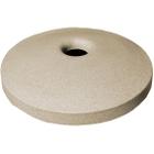 "55 Gallon Drum Beige Granite Plastic Mushroom Top Recycling Lid, 4"" Opening"