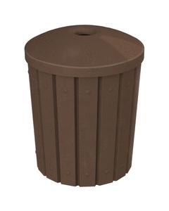 "42 Gallon Brown Granite Slatted Recycling Receptacle, Mushroom Top 4"" Opening"
