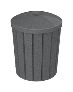 "42 Gallon Dark Granite Slatted Recycling Receptacle, Mushroom Top 4"" Opening"