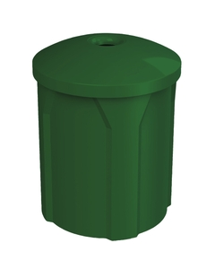 """42 Gallon Green Recycling Receptacle, Mushroom Top 4"""" Opening"""