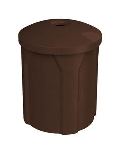 "42 Gallon Brown Granite Recycling Receptacle, Mushroom Top 4"" Opening"
