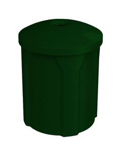 "42 Gallon Green Granite Recycling Receptacle, Mushroom Top 4"" Opening"