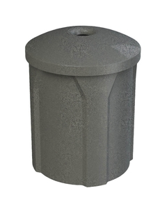 "42 Gallon Dark Granite Recycling Receptacle, Mushroom Top 4"" Opening"