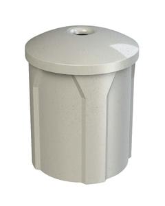 "42 Gallon Light Granite Recycling Receptacle, Mushroom Top 4"" Opening"