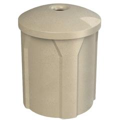 "42 Gallon Beige Granite Recycling Receptacle, Mushroom Top 4"" Opening"
