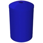 """55 Gallon Blue Recycling Receptacle, Mushroom Top 4"""" Opening"""