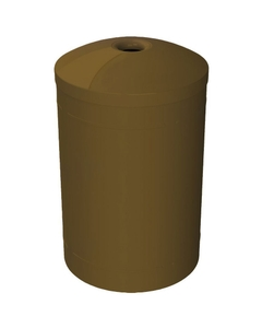 """55 Gallon Brown Recycling Receptacle, Mushroom Top 4"""" Opening"""