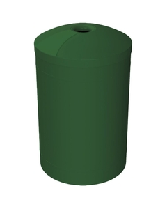 """55 Gallon Green Recycling Receptacle, Mushroom Top 4"""" Opening"""