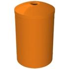 "55 Gallon Orange Recycling Receptacle, Mushroom Top 4"" Opening"