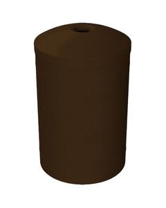 "55 Gallon Brown Granite Recycling Receptacle, Mushroom Top 4"" Opening"