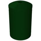"55 Gallon Green Granite Recycling Receptacle, Mushroom Top 4"" Opening"