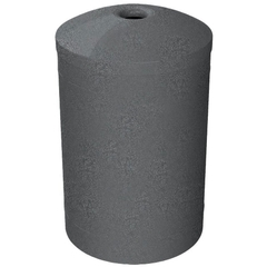 "55 Gallon Dark Granite Recycling Receptacle, Mushroom Top 4"" Opening"