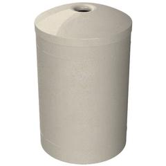 "55 Gallon Beige Granite Recycling Receptacle, Mushroom Top 4"" Opening"