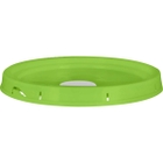 5 Gallon Lime Green Tear Strip Plastic Pail Lid w/Rieke Flexspout® (P5 Series)