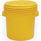 20 Gallon Yellow Plastic Lab Pack Drum, Screw On Lid, UN Rated