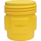 65 Gallon Yellow Plastic Overpack Drum, Screw On Lid, UN Rated