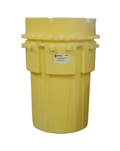 180 Gallon Yellow Overpack Plastic Drum w/Screw on Lid