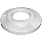 """55 Gallon Drum White Plastic Flat Top Trash Receptacle Lid, 11.5"""" Opening"""