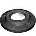"""55 Gallon Drum Dark Granite Plastic Flat Top Trash Receptacle Lid, 11.5"""" Opening"""