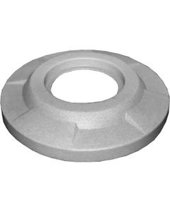 "55 Gallon Drum Light Granite Plastic Flat Top Trash Receptacle Lid, 11.5"" Opening"