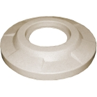 "55 Gallon Drum Beige Granite Plastic Flat Top Trash Receptacle Lid, 11.5"" Opening"