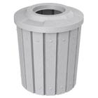 42 Gallon Light Granite Slatted Trash Receptacle, Flat Top 11.5