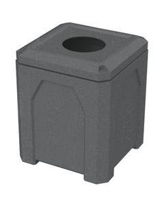 "52 Gallon Dark Granite Square Trash Receptacle, 11.5"" Opening"