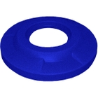 """55 Gallon Drum Blue Plastic Flat Top Recycling Lid, 4"""" Opening"""