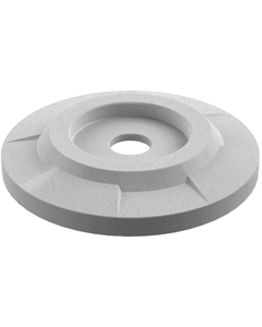 "55 Gallon Drum Light Granite Plastic Flat Top Recycling Lid, 4"" Opening"