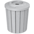 """42 Gallon Light Granite Slatted Recycling Receptacle, Flat Top 4"""" Opening"""