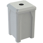"""32 Gallon Light Granite Square Recycling Receptacle, Flat Top 4"""" Opening"""