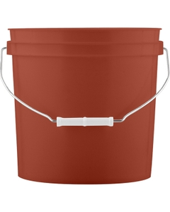 2 Gallon Mobil Red Plastic Pail with Metal Handle (P5 Series)