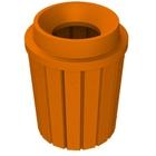 "42 Gallon Orange Slatted Trash Receptacle, Funnel Top 11.5"" Opening"