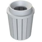 "42 Gallon Light Granite Slatted Trash Receptacle, Funnel Top 11.5"" Opening"