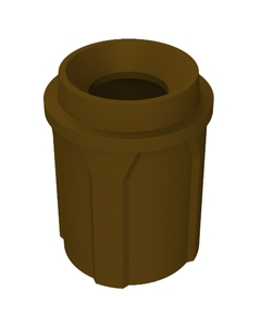 """42 Gallon Brown Trash Receptacle, Funnel Top 11.5"""" Opening"""
