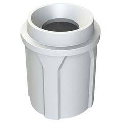 42 Gallon White Trash Receptacle, Funnel Top 11.5