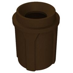 "42 Gallon Brown Granite Trash Receptacle, Funnel Top 11.5"" Opening"