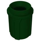 "42 Gallon Green Granite Trash Receptacle, Funnel Top 11.5"" Opening"