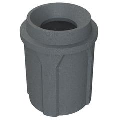 """42 Gallon Dark Granite Trash Receptacle, Funnel Top 11.5"""" Opening"""