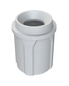 "42 Gallon Light Granite Trash Receptacle, Funnel Top 11.5"" Opening"