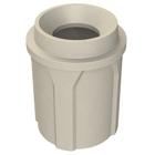 "42 Gallon Beige Granite Trash Receptacle, Funnel Top 11.5"" Opening"